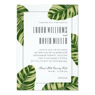 Tropische Palme-Strand-Hochzeits-Einladung 12,7 X 17,8 Cm Einladungskarte