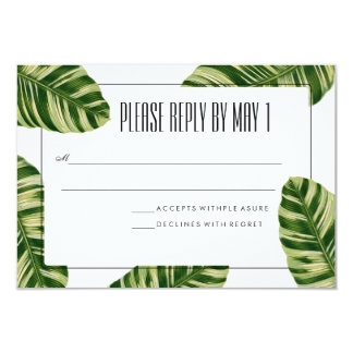 Tropische Palme-Strand UAWG Karte 8,9 X 12,7 Cm Einladungskarte