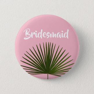 Tropische Palmwedel-Blatt-Hochzeit Runder Button 5,1 Cm