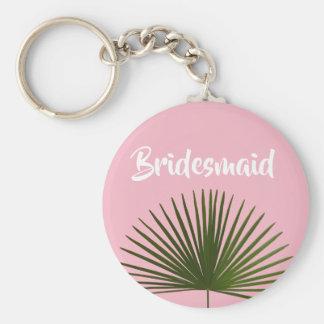 Tropische Palmwedel-Blatt-Hochzeit Schlüsselanhänger