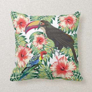 Tropische Paradiesvögel Entwurfs-Reihen 1 Kissen