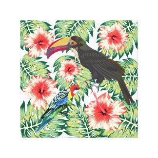 Tropische Paradiesvögel Entwurfs-Reihen 1 Leinwanddruck