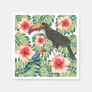 Tropische Paradiesvögel Entwurfs-Reihen 1 Papierserviette