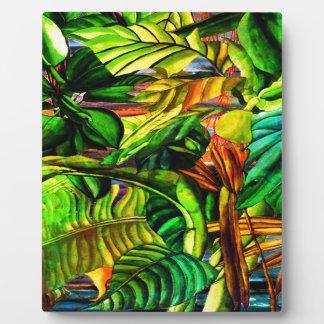 Tropische Pflanzen Fotoplatte