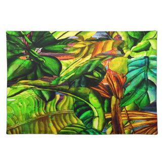 Tropische Pflanzen Stofftischset