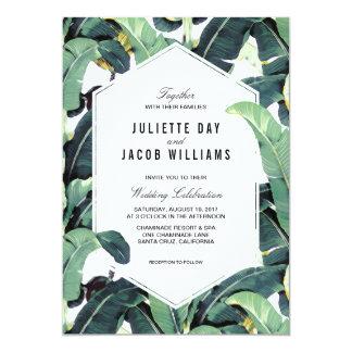 Tropische Plantagen-Hochzeit in 12,7 X 17,8 Cm Einladungskarte