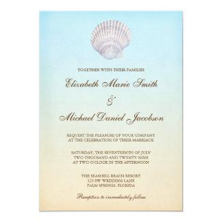 Tropische Seashell-Strand-Hochzeit 12,7 X 17,8 Cm Einladungskarte