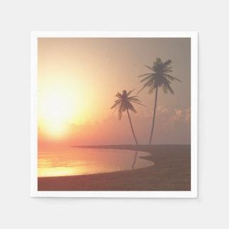 Tropische Sonnenuntergangservietten Serviette