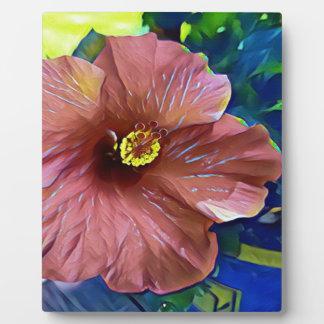 Tropische staubige Rosen-künstlerische Fotoplatte