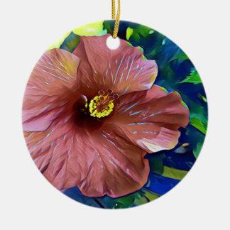 Tropische staubige Rosen-künstlerische Keramik Ornament