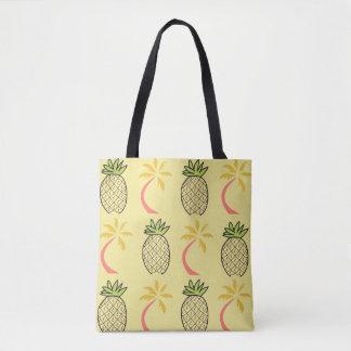 Tropische Strand-Ananas-Palmen-Tasche mit gelbem Tasche
