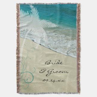 Tropische Strand-Hochzeit Decke
