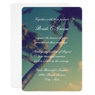 Tropische Strand-Hochzeit in Karte