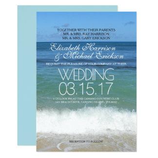 Tropische Strand-Hochzeits-Einladung 12,7 X 17,8 Cm Einladungskarte