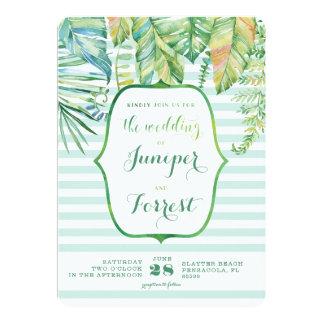 Tropische Strand-Hochzeits-Einladung Karte