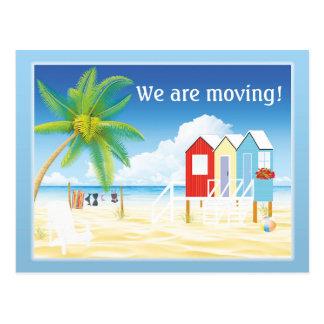 Tropische Strand-Hütten-Adressenänderung Postkarte