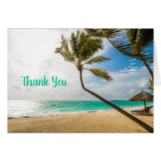 Tropische Strand-Palme-Anlass-Anmerkungs-Karte Karte