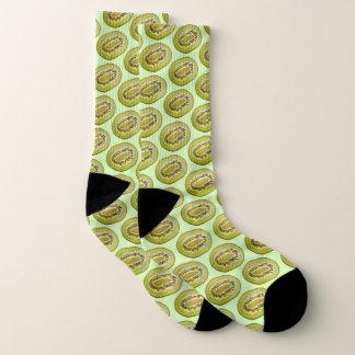 Tropische tadellose grüne Fruchtkiwi Neuseelands Socken