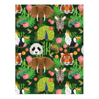 Tropische Tiermischung Postkarte