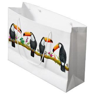 Tropische Toucan Vogel-große Geschenk-Tasche Große Geschenktüte