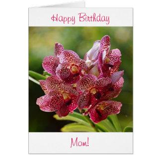 Tropische Vanda-Orchideen-Geburtstags-Karte Grußkarte