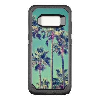 Tropische Vintage Palmen auf aquamarinem OtterBox Commuter Samsung Galaxy S8 Hülle