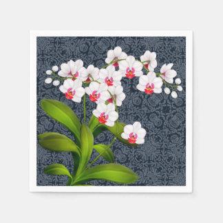 Tropische weiße papierserviette