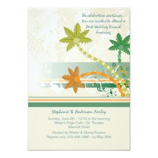 Tropische Wind-Posten-Hochzeits-Brunch-Einladung 12,7 X 17,8 Cm Einladungskarte