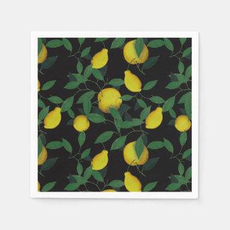 Tropische Zitrone Papierserviette