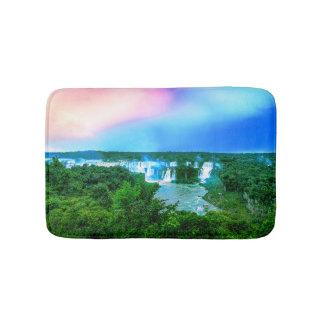 Tropischer Amazonas-Wasserfall Badematte