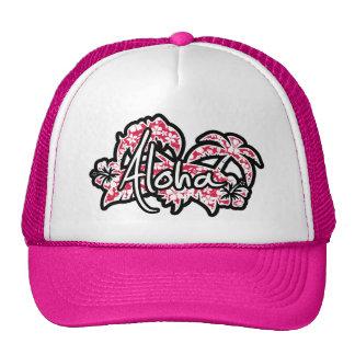 Tropischer Fuschia Hibiskus; Aloha Baseballmützen