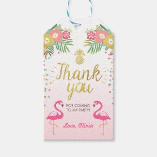 Tropischer Geburtstag danken Ihnen etikettiert Geschenkanhänger