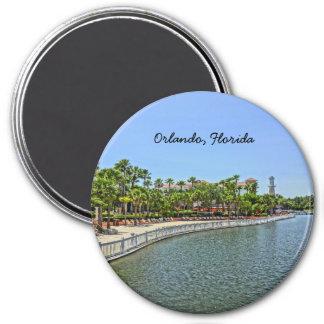 Tropischer großer Vista-Erholungsort Orlando, Runder Magnet 7,6 Cm