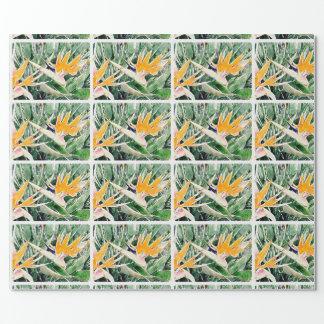 Tropischer hawaiischer Paradiesvogel Einpackpapier