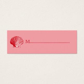 Tropischer Insel-Ingwer-rote Mini Visitenkarte