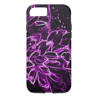 Tropischer lila abstrakter iPhone Neonkasten 7 u. iPhone 7 Hülle