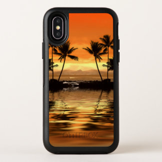 Tropischer Meerblick OtterBox iPhone X Fall OtterBox Symmetry iPhone X Hülle