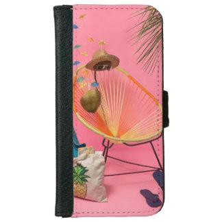 Tropischer moderner Strand gegründet im Rosa Geldbeutel Hülle Für Das iPhone 6/6s
