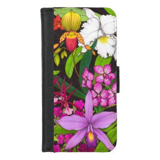 Tropischer Orchideen-Blumen iPhone iPhone 8/7 Geldbeutel-Hülle