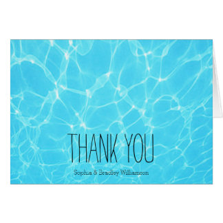 Tropischer Ozean danken Ihnen Karte