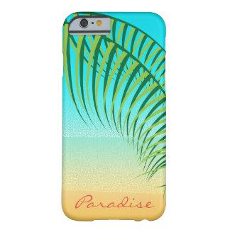 Tropischer Palmblatt-einsamer Strand Barely There iPhone 6 Hülle