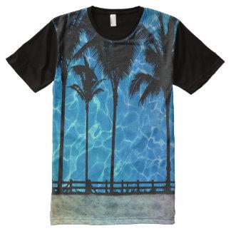 Tropischer Palme-Sommer-Grafik-T - Shirt