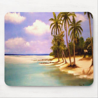 Tropischer Paradies-Entwurf Mauspad