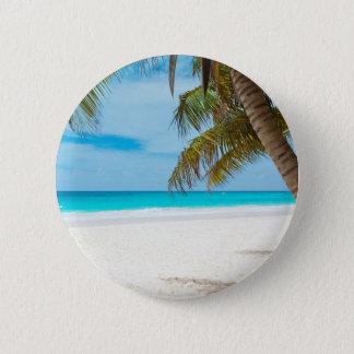 Tropischer Paradies-Strand Runder Button 5,1 Cm