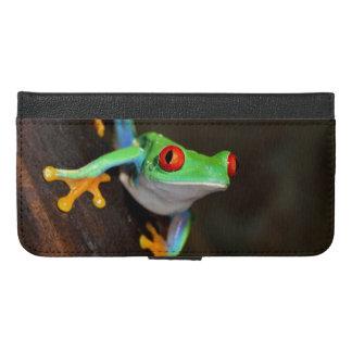 Tropischer Red Eye-Frosch - Agalychnis Callidryas iPhone 6/6s Plus Geldbeutel Hülle