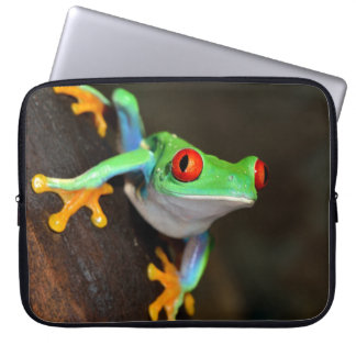Tropischer Red Eye-Frosch - Agalychnis Callidryas Laptopschutzhülle