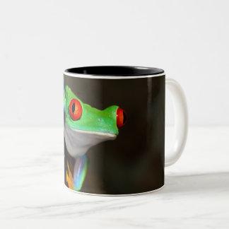 Tropischer Red Eye-Frosch - Agalychnis Callidryas Zweifarbige Tasse