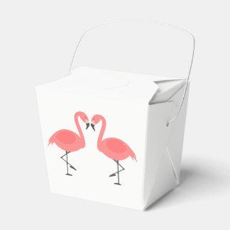 Tropischer rosa Flamingo-Hochzeits-Party-Sommer Geschenkschachtel