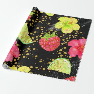 Tropischer Sommer-Glitter Geschenkpapier