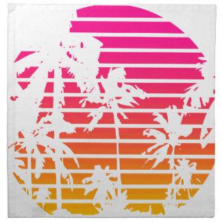 Tropischer Sonnenuntergang Serviette